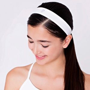 3/$30 LULULEMON Stick It Headband Girls White